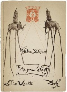 Visconte's As You Like It ballet; program cover designed by Dali, 1948