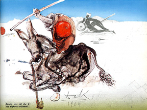 Don Quixote watercolor