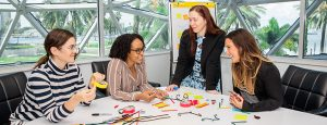 Corporate Events at The Dalí include Creative problem-solving workshops like this one