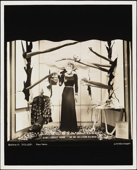 Bonwit Teller window display designed by Dali