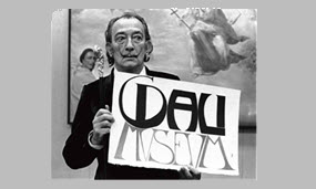 Dali at the opening of the Cleveland Museum in 1971