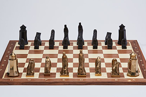 Detail of Dali's Chess Set - an homage to Marcel Duchamp