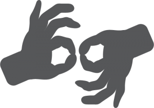 sign language interpretation icon