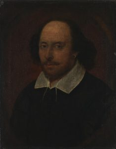 Portrait of William Shakespeare c.1600-10 associated with John Taylor; National Portrait Gallery London