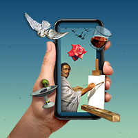 The Dali Museum App on a phone
