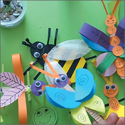 Popsicle stick paper bugs example