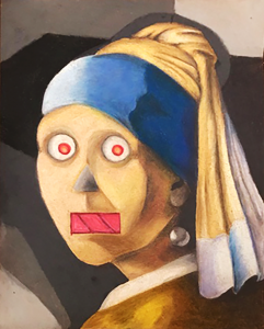 Ayalen Ortiz. Android with a Pearl Earring