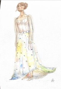 Ieen Fashion rendering by Isabella Ancheta