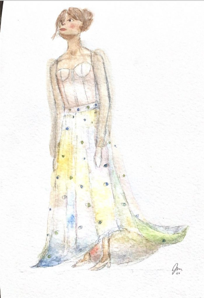 Teen Fashion rendering by Isabella Ancheta